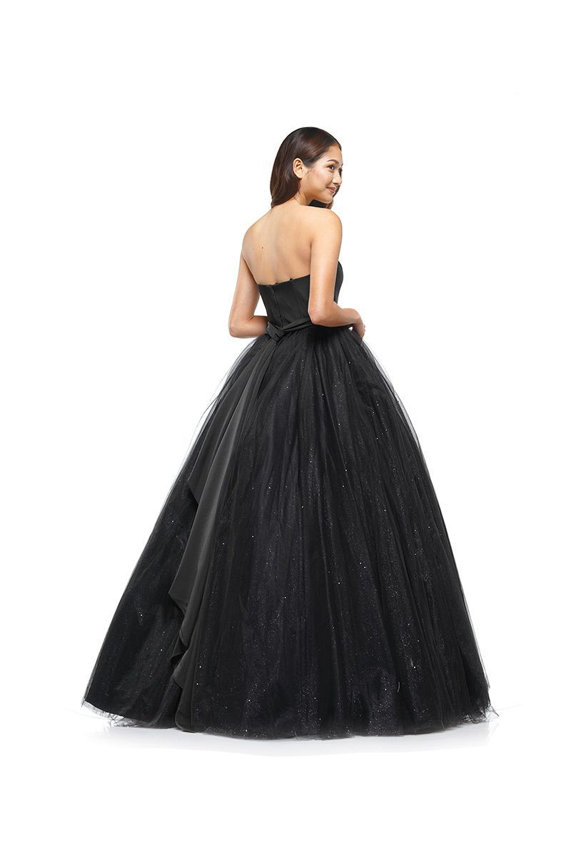 Style 2166 Colors Black Size 12 Quinceanera Plus Size Sheer Tall Height Ball gown on Queenly
