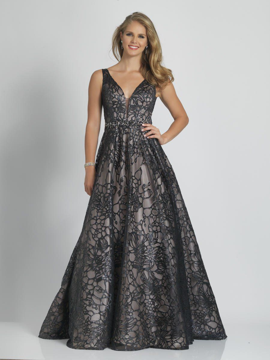 Style A9385 Dave & Johnny Black Size 24 Nude Tall Height Ball gown on Queenly