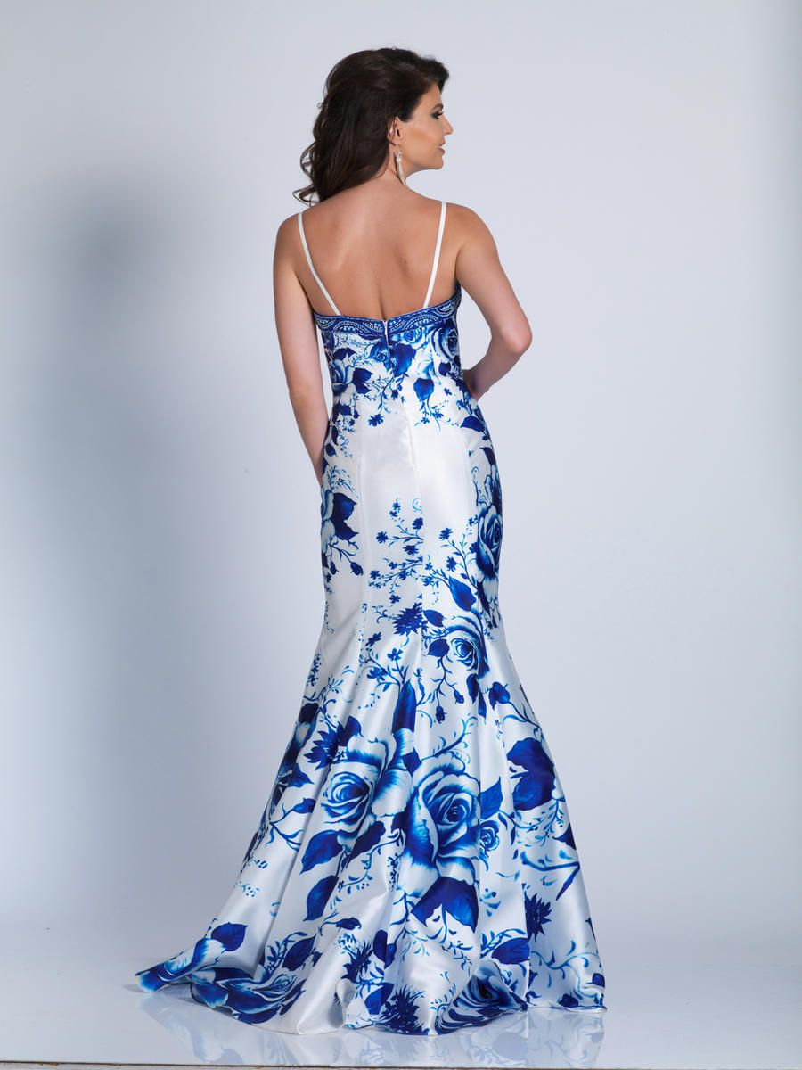 Style A6042 Dave & Johnny Multicolor Size 12 Plus Size Tall Height Lace Mermaid Dress on Queenly