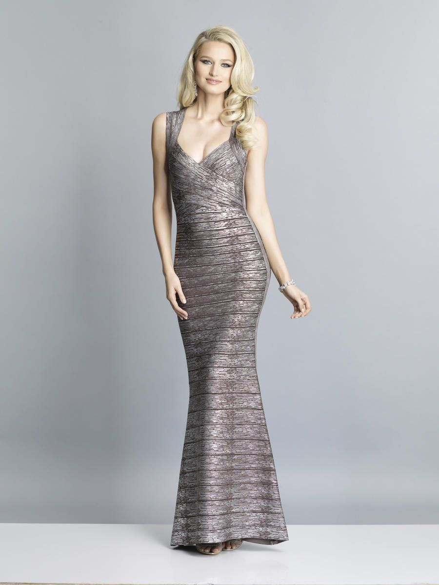 Style A7383 Dave & Johnny Silver Size 10 Dave And Johnny Tall Height Wedding Guest Mermaid Dress on Queenly