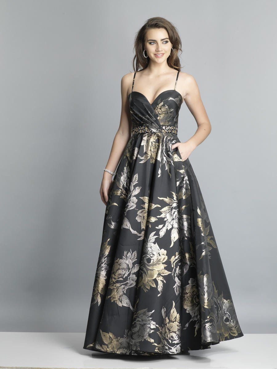 Style A7418 Dave & Johnny Black Size 14 Tall Height Ball gown on Queenly