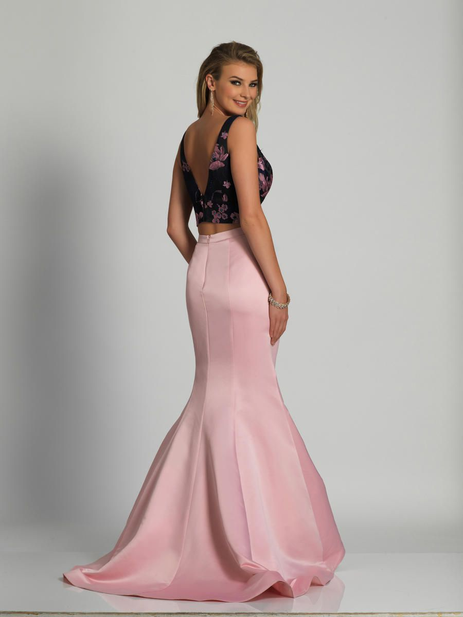 Style A6559 Dave & Johnny Pink Size 8 Tall Height Mermaid Dress on Queenly