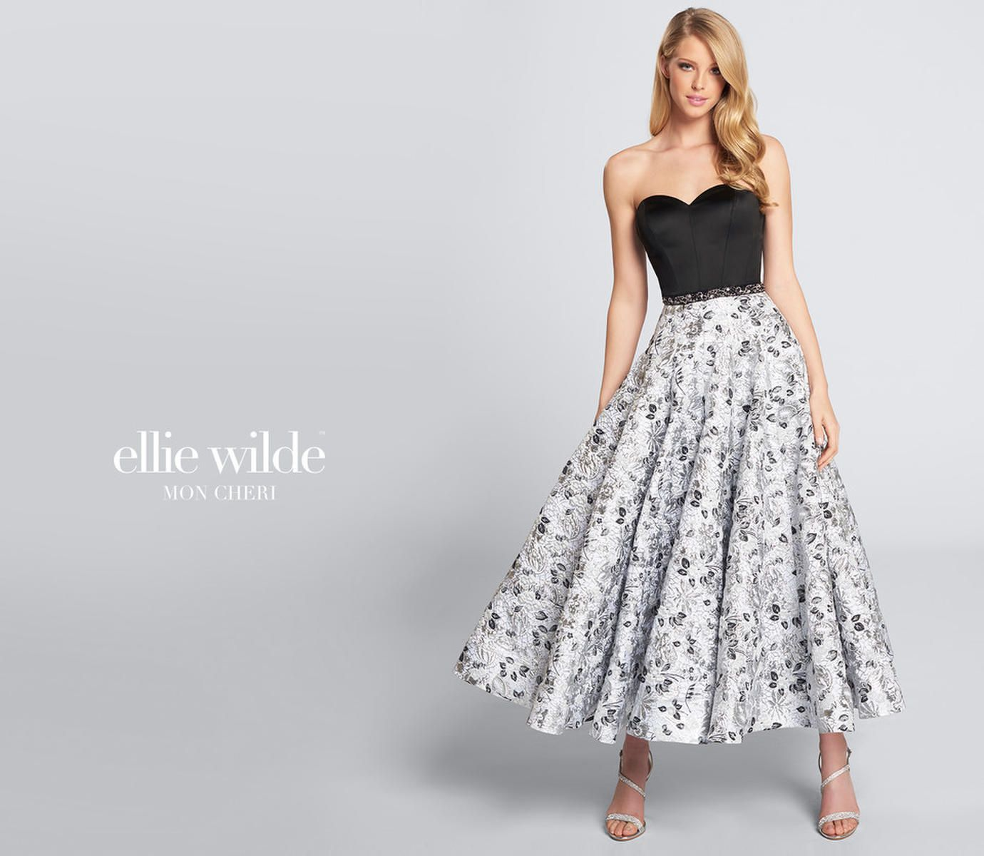 Style EW21730 Ellie Wilde Multicolor Size 12 Plus Size Tall Height Wedding Guest Cocktail Dress on Queenly