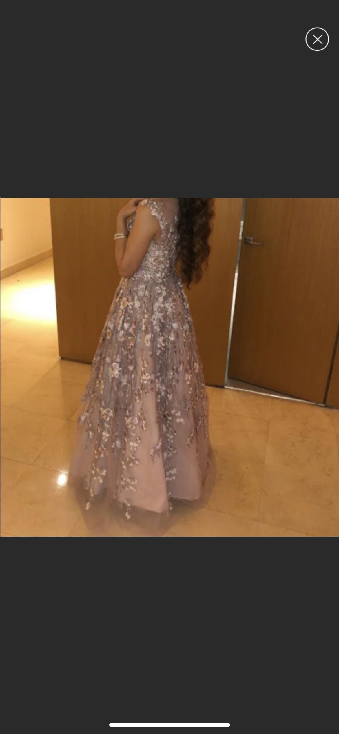 Mac Duggal Pink Size 0 Floral Ball gown on Queenly