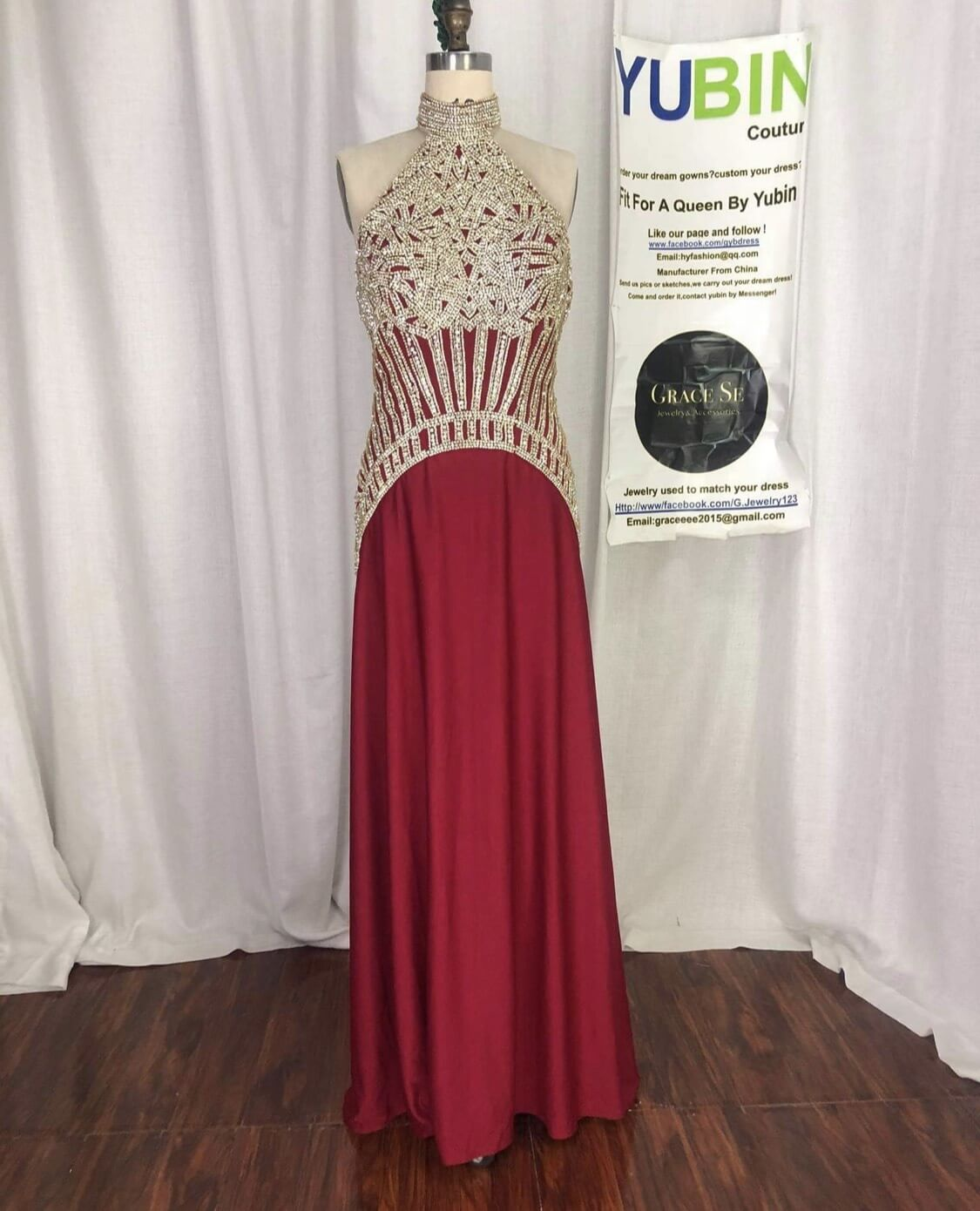 Red Size 14 A-line Dress on Queenly
