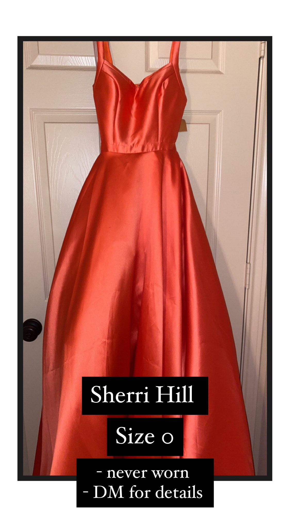 Orange Size 0 Ball gown on Queenly
