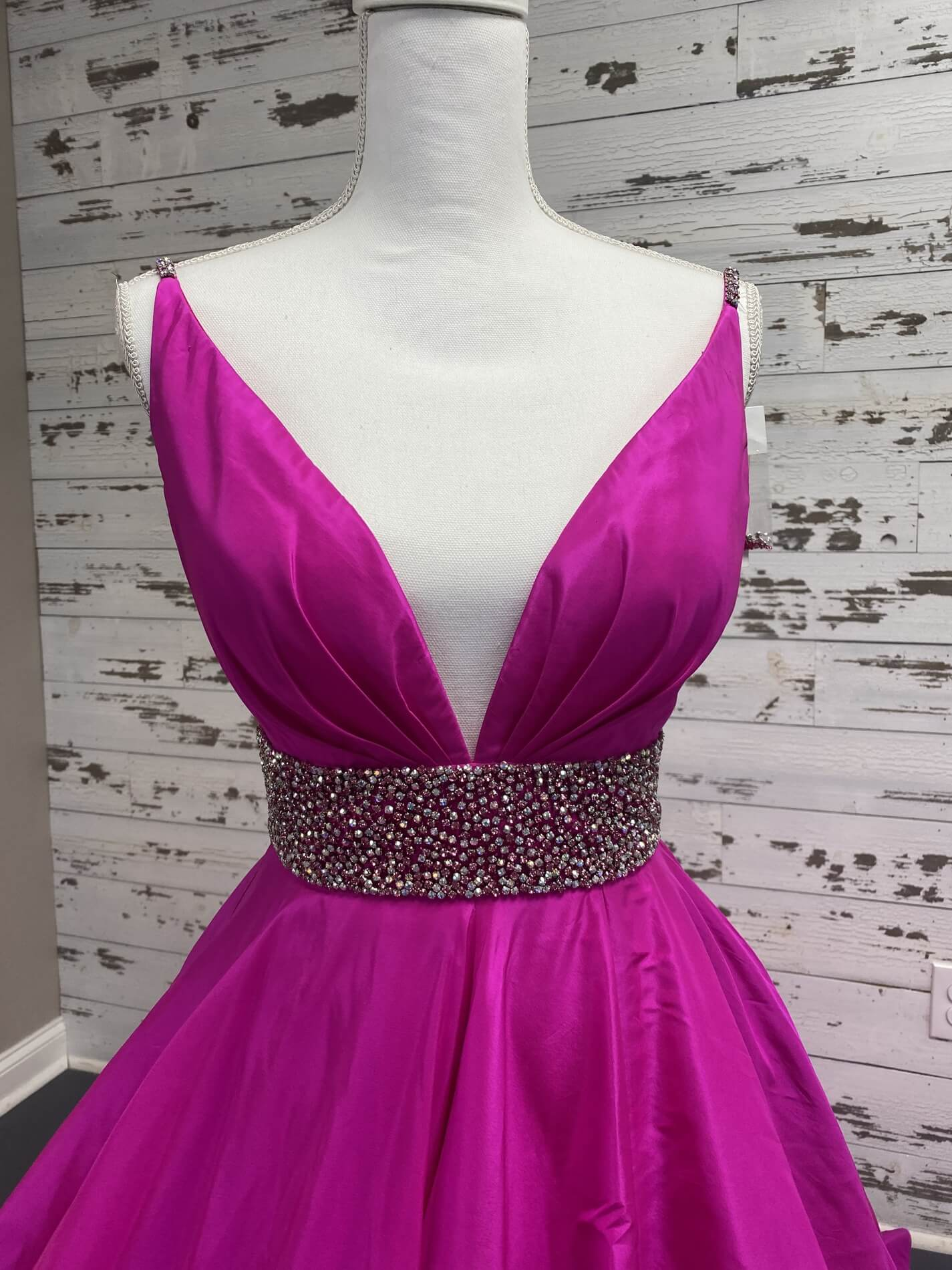 Sherri Hill Pink Size 6 Plunge Side Slit Pageant Ball gown on Queenly