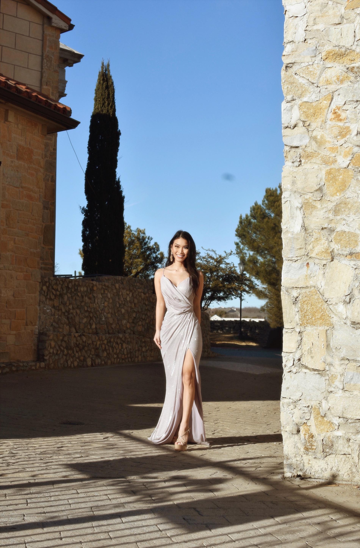 Portia & Scarlett Light Pink Size 0 Prom Side slit Dress on Queenly