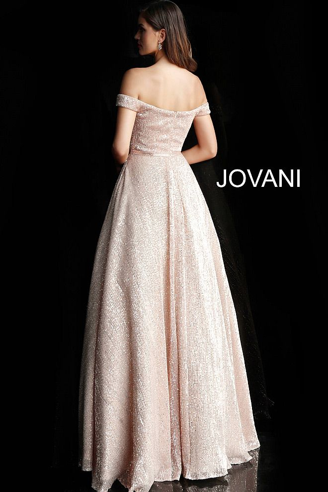 Style JVN66951 Jovani Gold Size 2 Belt Tall Height Ball gown on Queenly