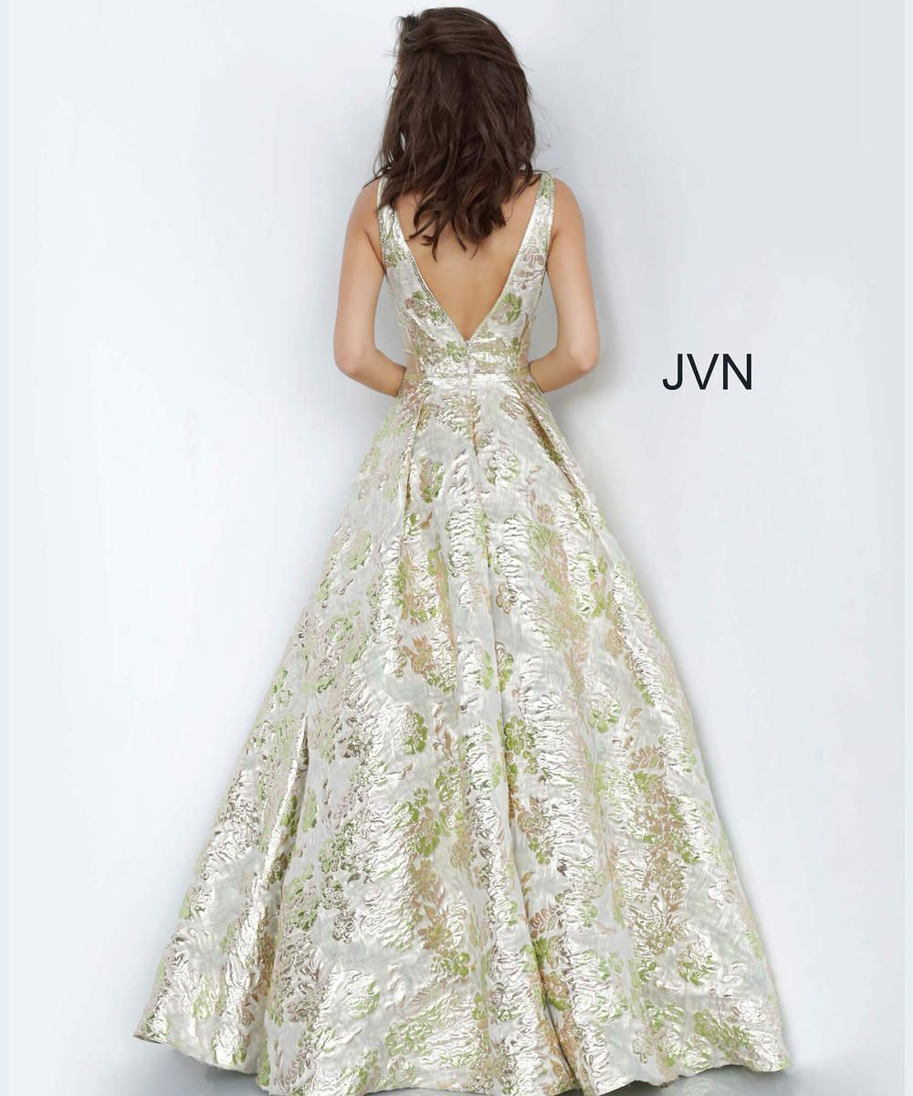 Style JVN3809 Jovani Gold Size 2 Pageant Green Tall Height Ball gown on Queenly
