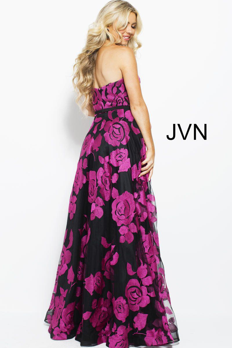Style JVN60044 Jovani Pink Size 4 Sweetheart Tall Height A-line Dress on Queenly
