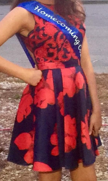 Terani Couture Red Size 6 Interview Homecoming Navy A-line Dress on Queenly