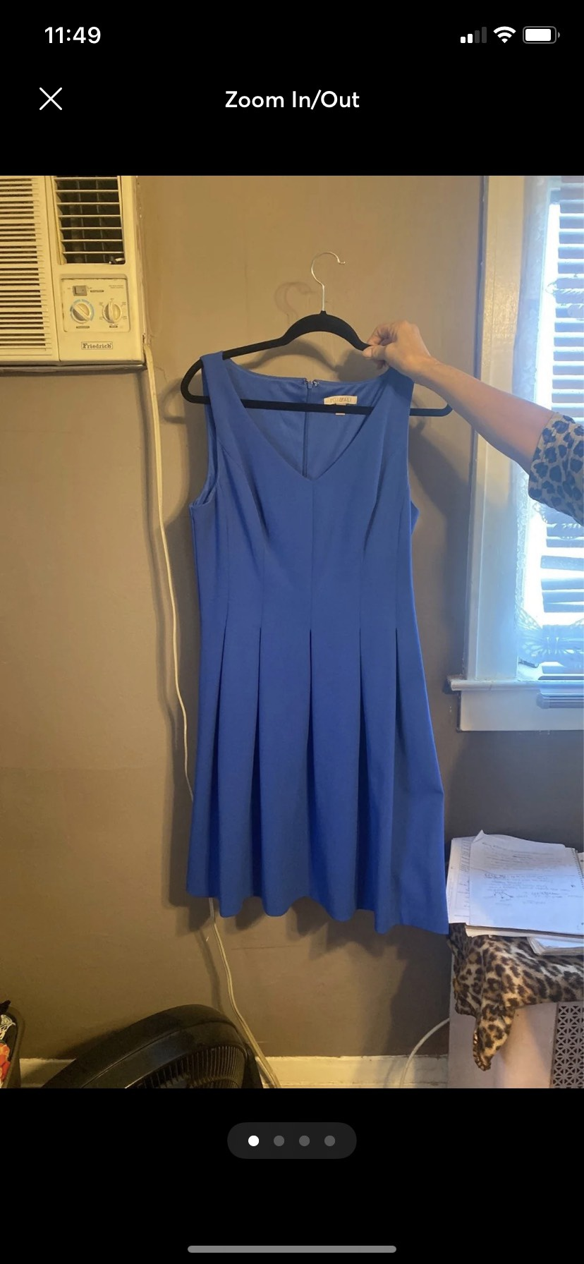 Roz&ali Blue Size 12 Short Height Rozandali A-line Dress on Queenly