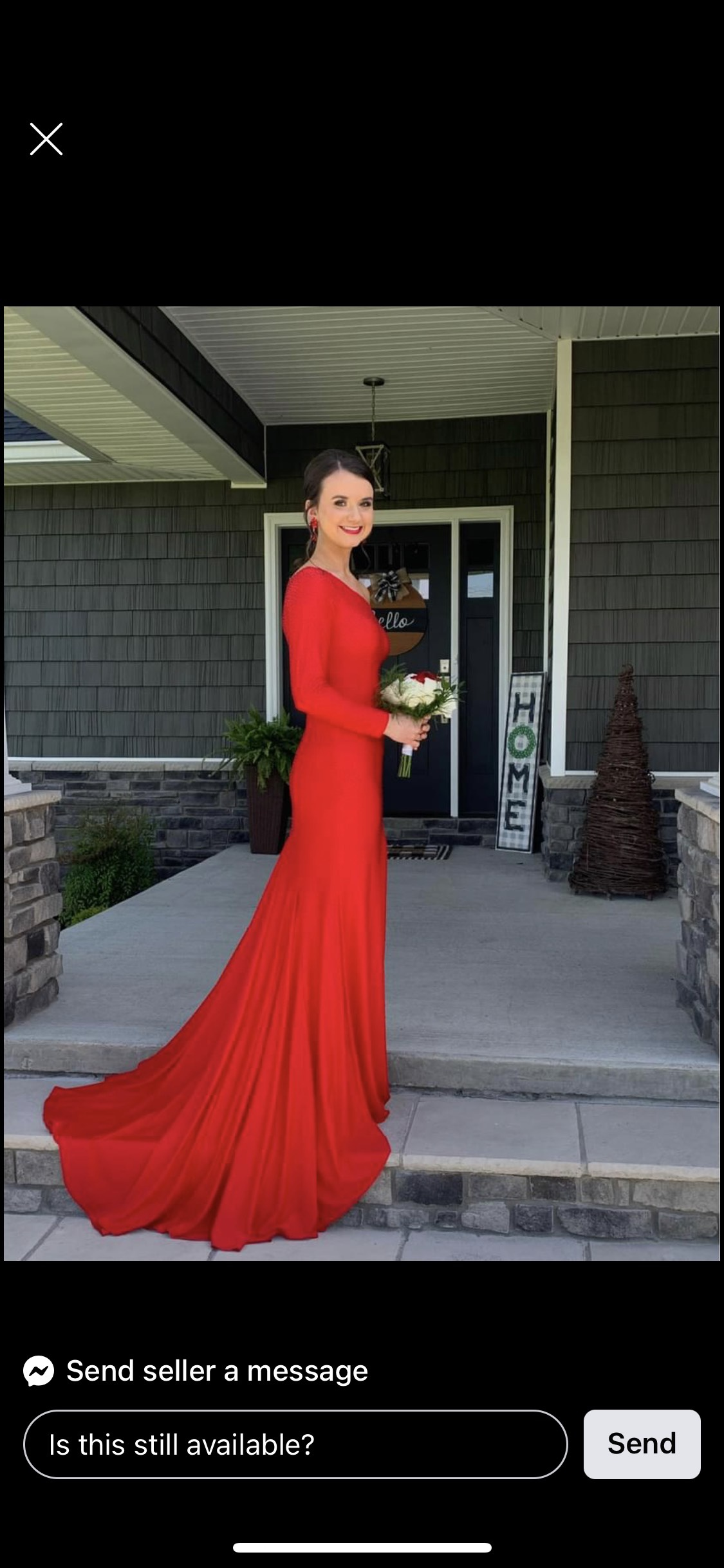 Sherri Hill Red Size 00 Long Sleeve One Shoulder Straight Pageant Side slit Dress on Queenly