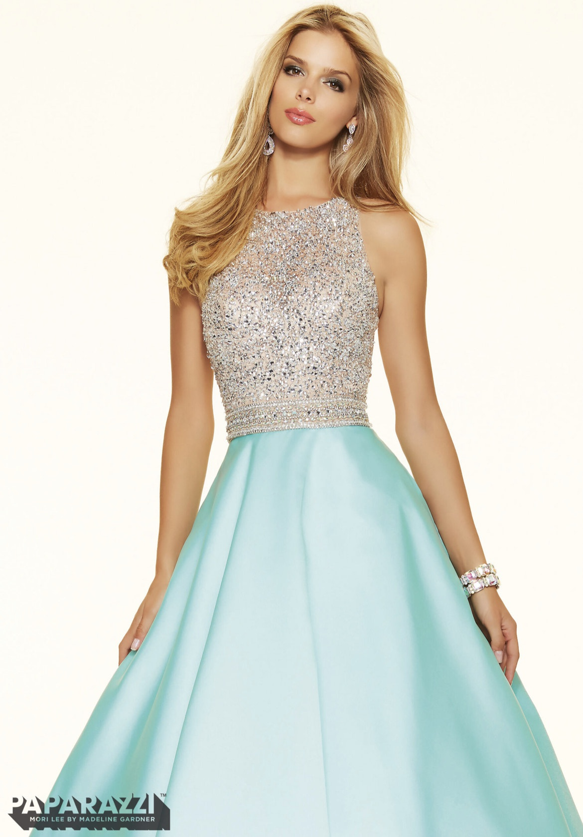 Mori Lee Blue Size 8 Prom Turquoise Short Height A-line Dress on Queenly
