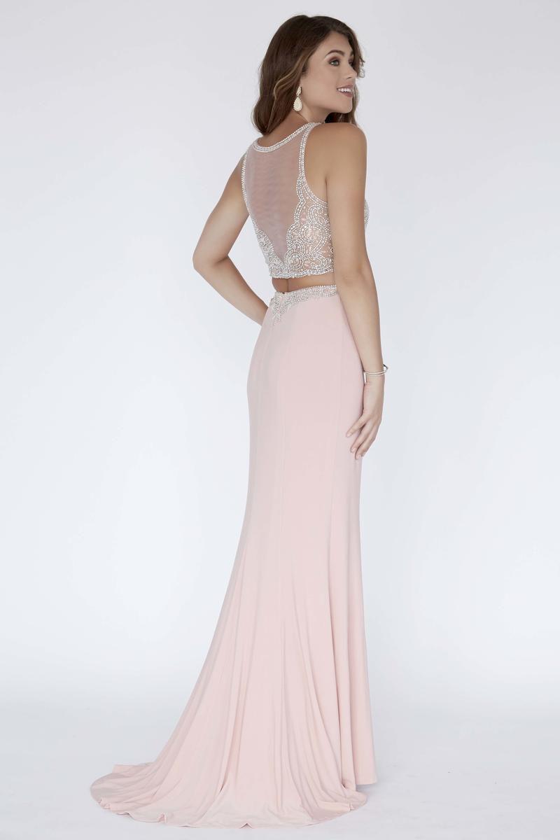 Style 18042 Jolene Pink Size 12 Sweetheart Sorority Formal Tall Height Wedding Guest Mermaid Dress on Queenly
