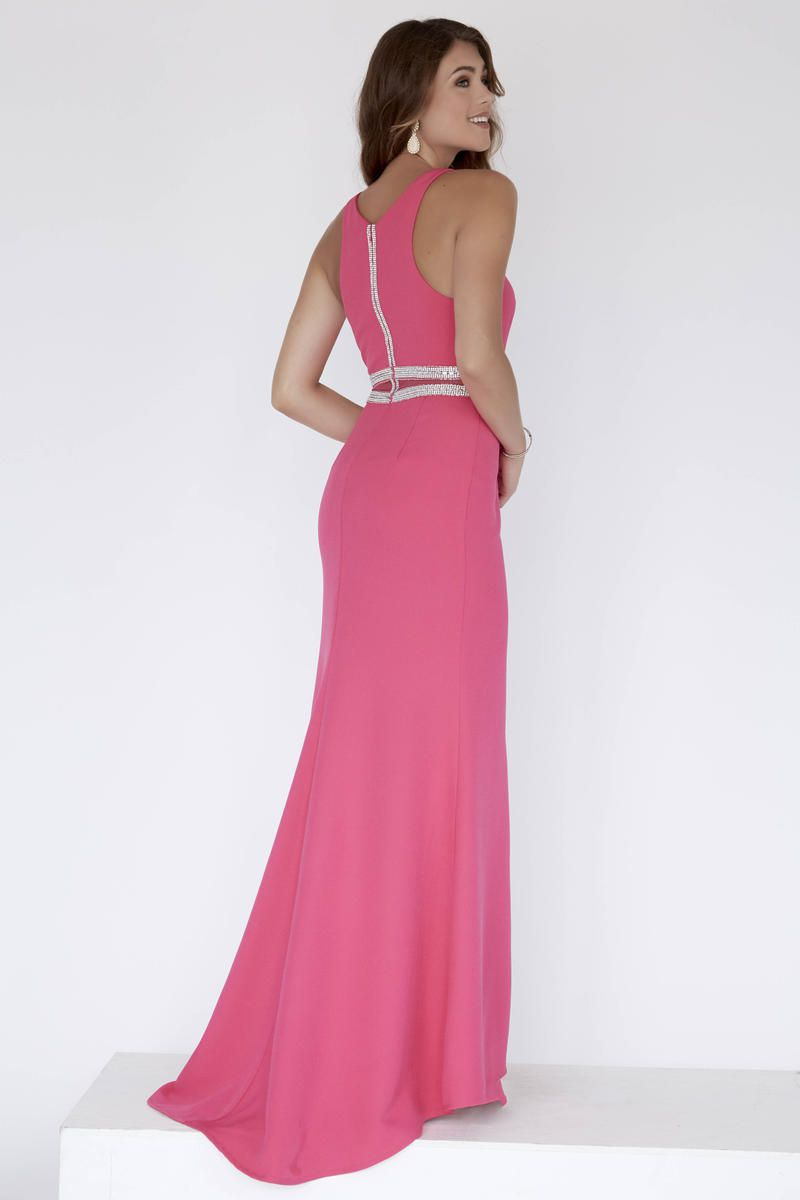 Style 18000 Jolene Pink Size 6 Sorority Formal Tall Height Wedding Guest Side slit Dress on Queenly