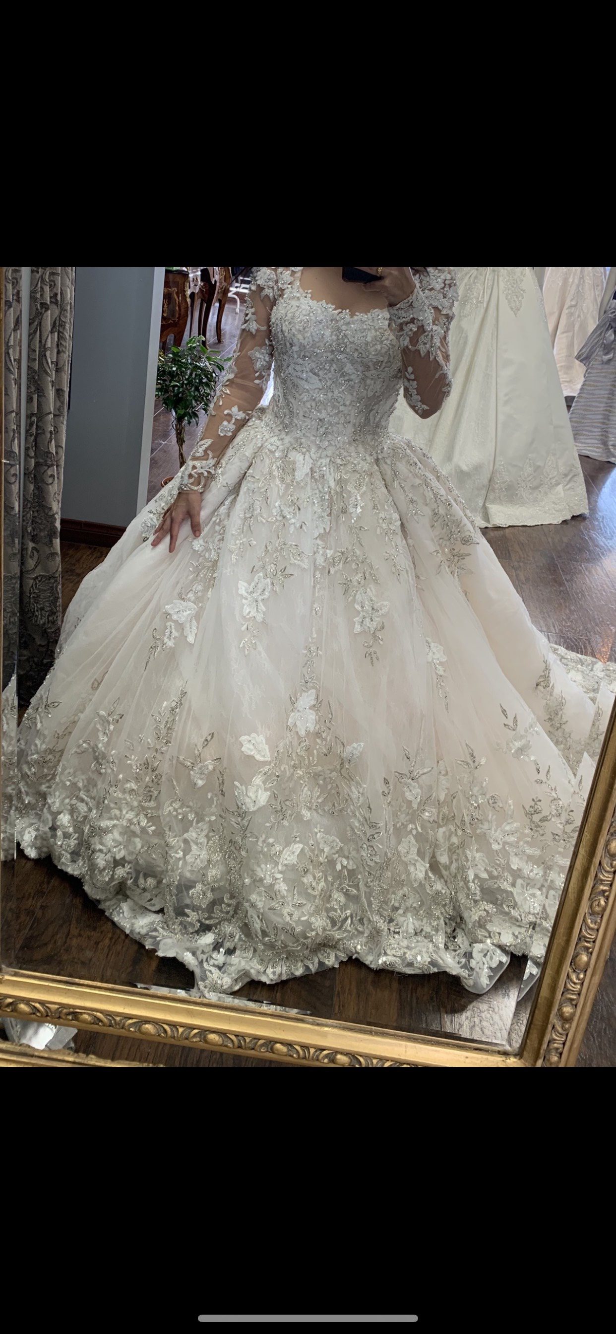 YSA Makino White Size 4 Tulle Pink Ball gown on Queenly