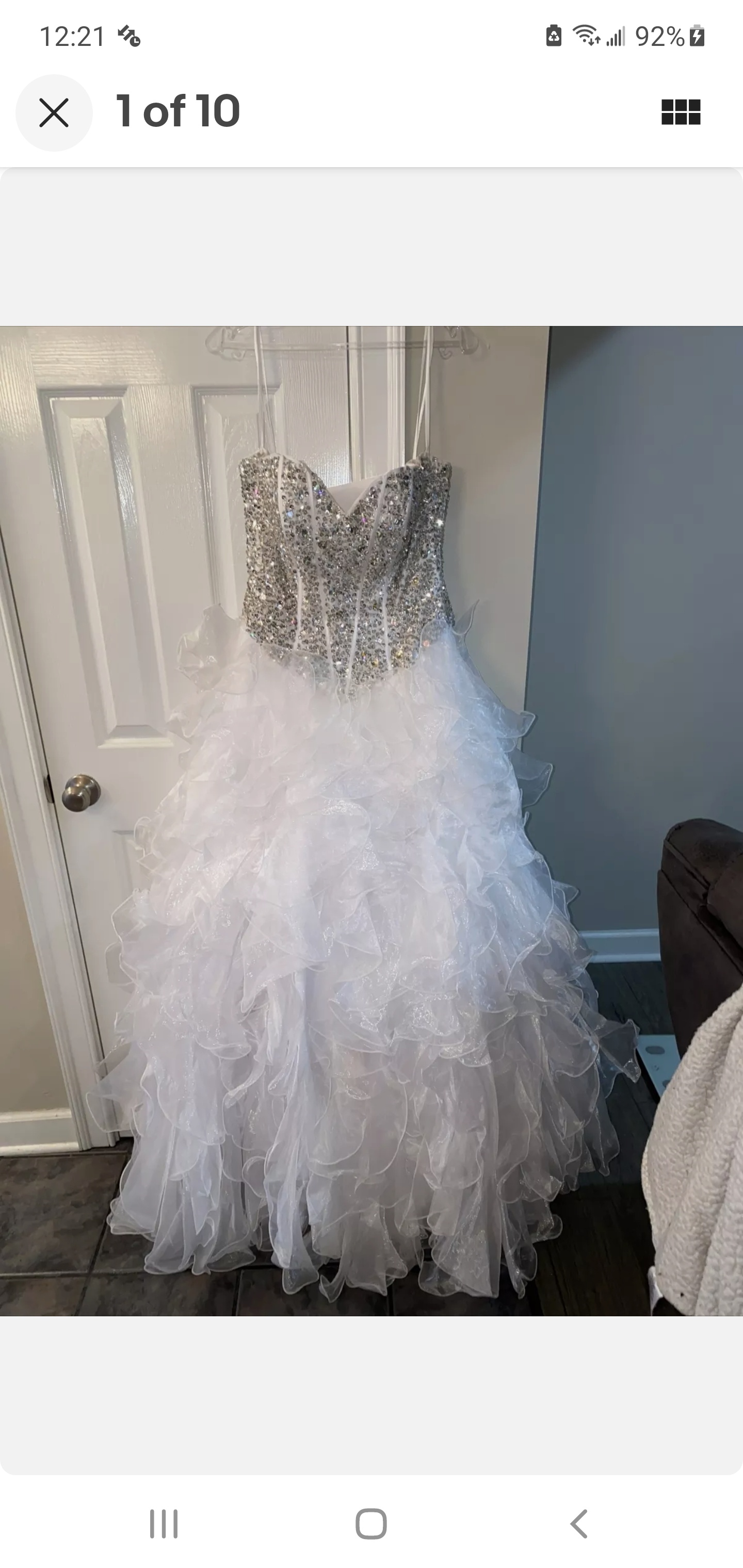 White Size 6 Ball gown on Queenly