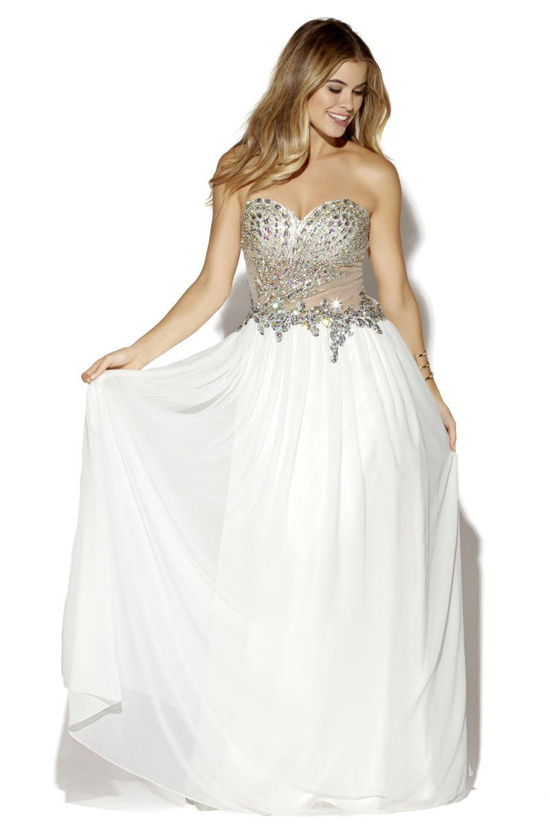 Style 16059 Jolene White Size 4 Sweetheart Quinceanera Tulle Tall Height Ball gown on Queenly
