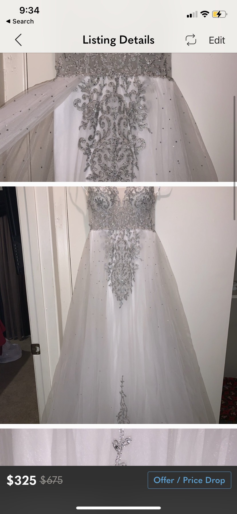 White Size 0 Straight Dress on Queenly
