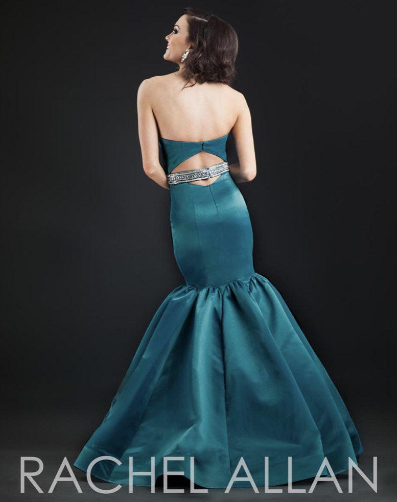 Style 8095 Rachel Allan Green Size 6 Pageant Belt Mermaid Dress on Queenly