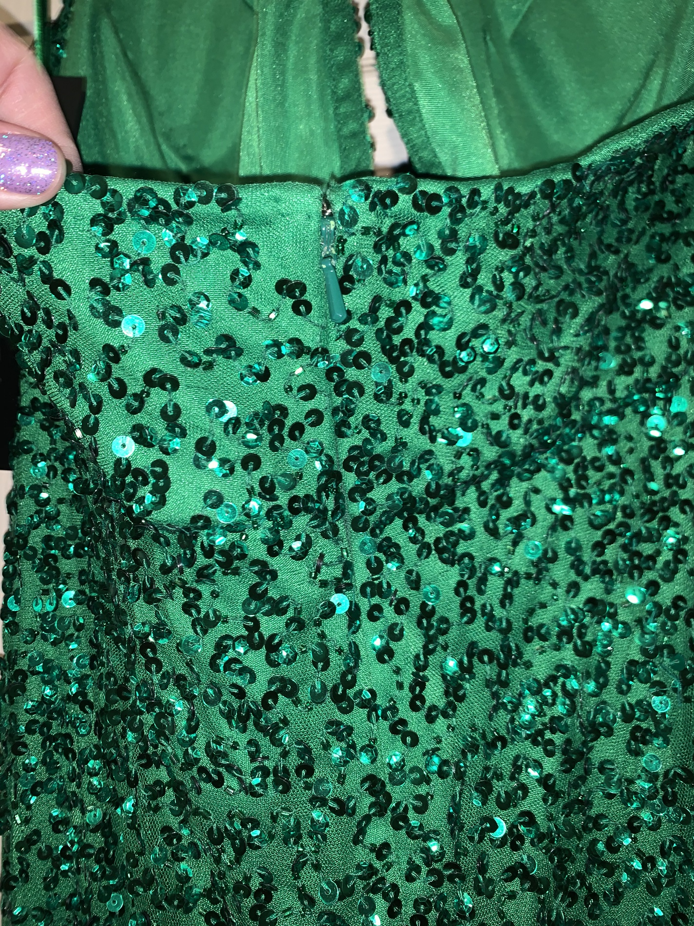 Green Size 14 Straight Dress on Queenly