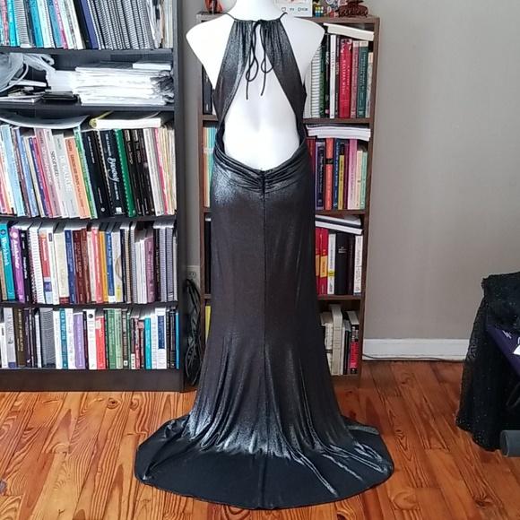 Style 15931 Niki by Niki Livas Silver Size 16 Jersey Mermaid Dress on Queenly