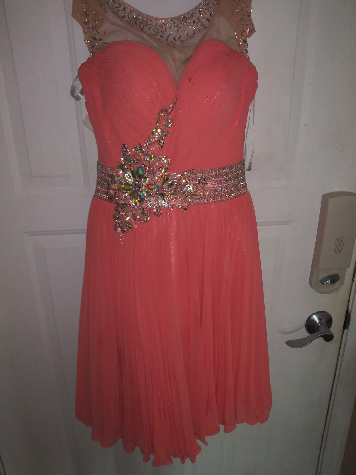 Sherri Hill Orange Size 0 Cocktail Dress on Queenly