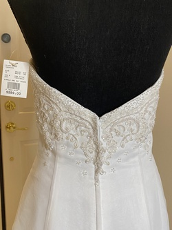 White Size 10 Train Dress on Queenly