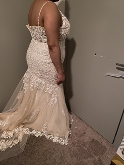 White Size 20 Mermaid Dress on Queenly
