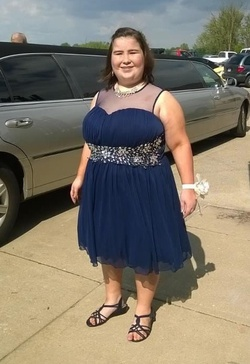 B. Smart Blue Size 16 Homecoming Wedding Guest A-line Dress on Queenly