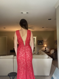Tony Bowls Red Size 2 Prom Plunge Pageant Straight Dress on Queenly