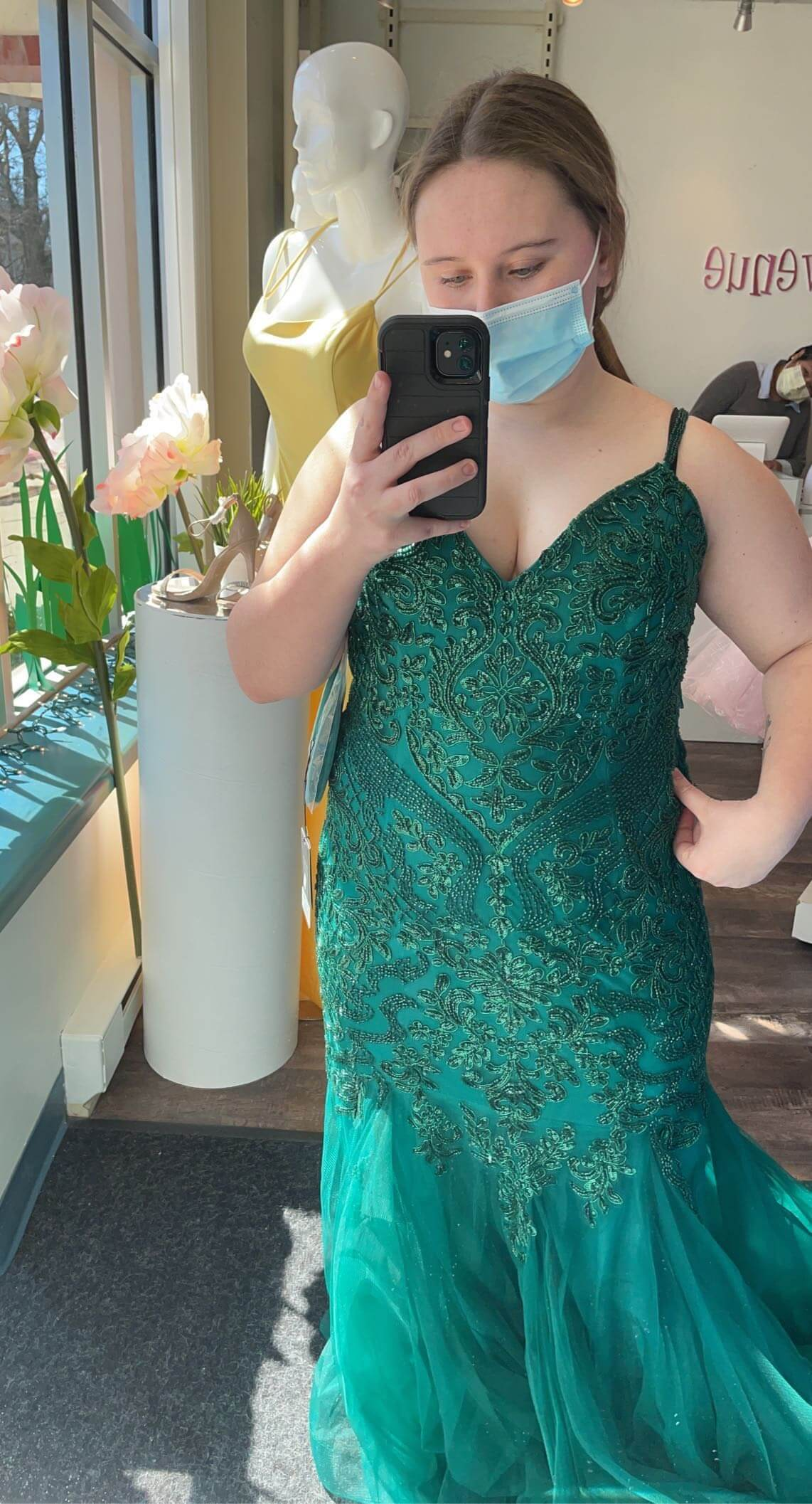 Green Size 14 Mermaid Dress on Queenly