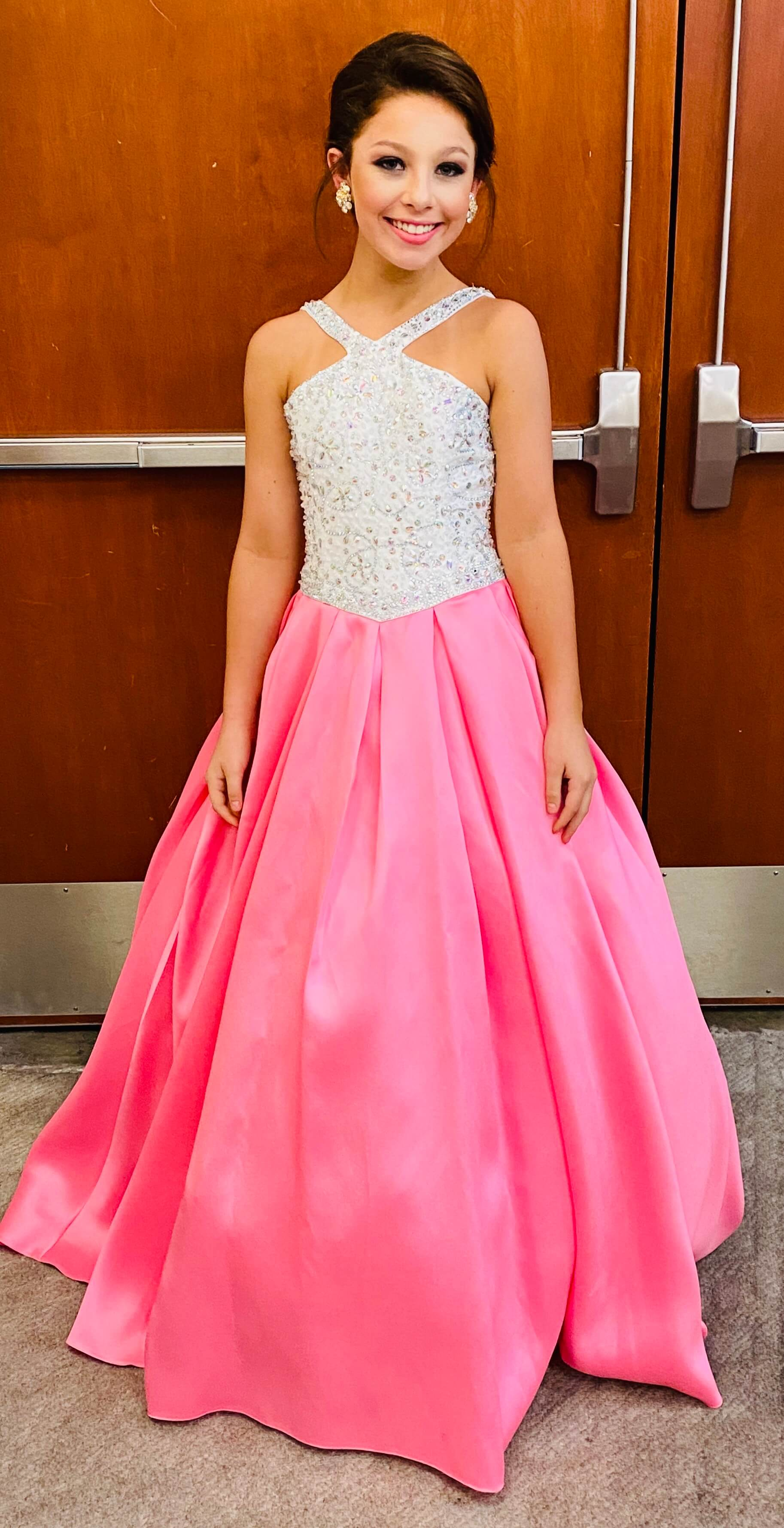 Tiffany Designs Pink Size 00 Pageant Halter Train Ball gown on Queenly