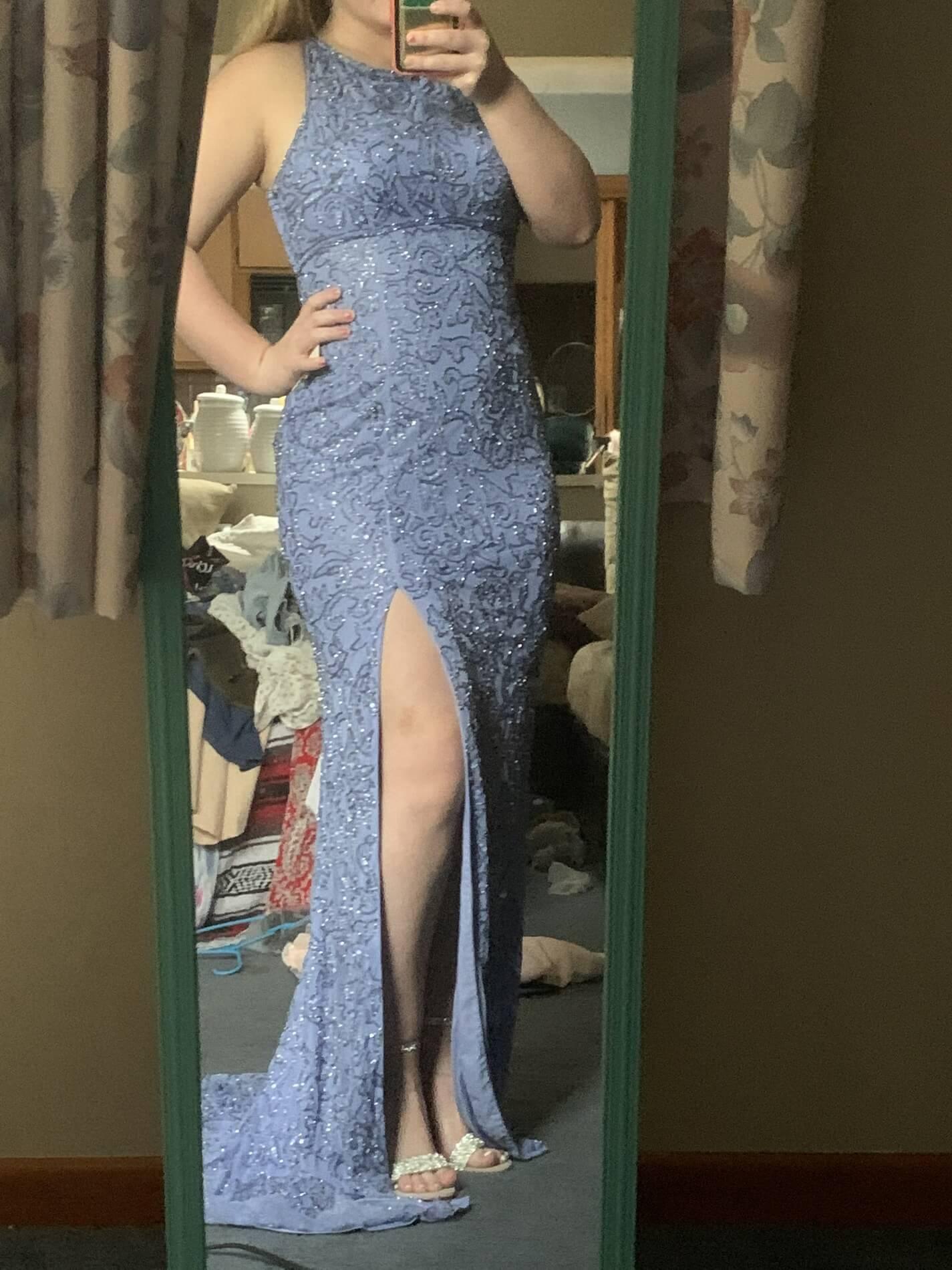 Sherri Hill Purple Size 10 Side slit Dress on Queenly