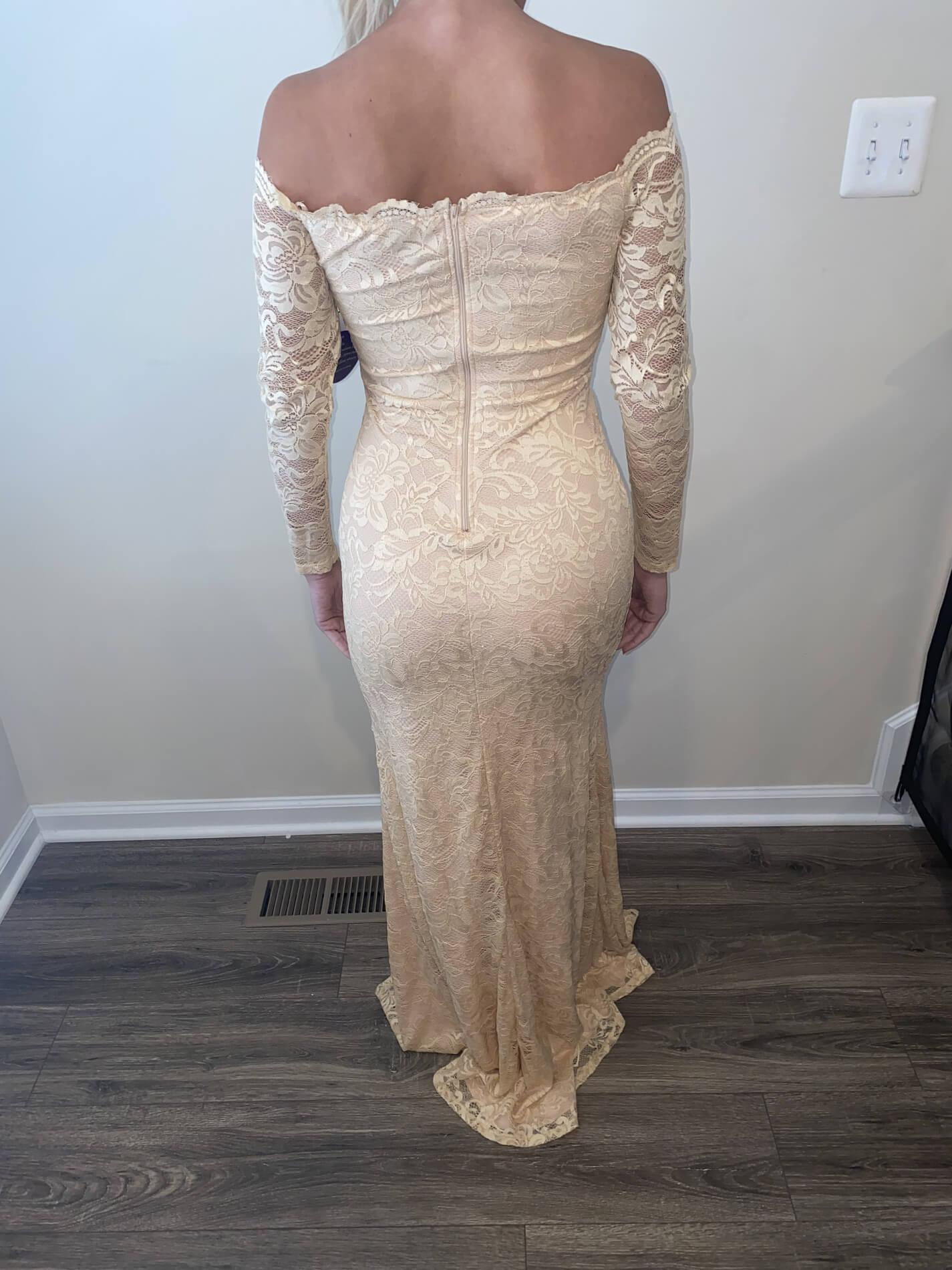 Windsor Nude Size 4 Mermaid Dress on Queenly