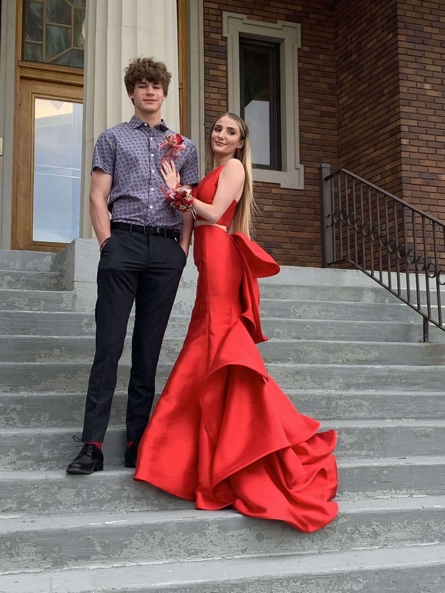 Sherri Hill Red Size 0 Two Piece Mermaid Dress on Queenly