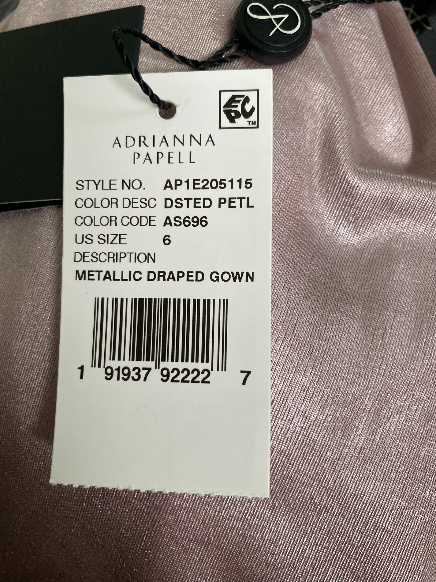 Adrianna Papell Pink Size 6 One Shoulder Tall Height Straight Dress on Queenly