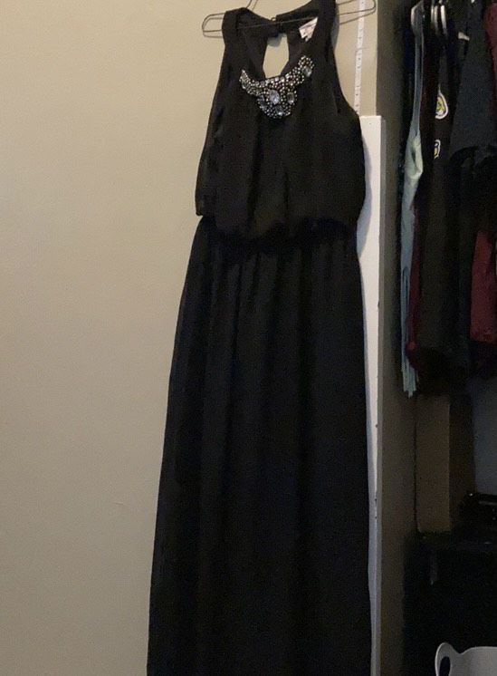 Black Size 12 Straight Dress on Queenly