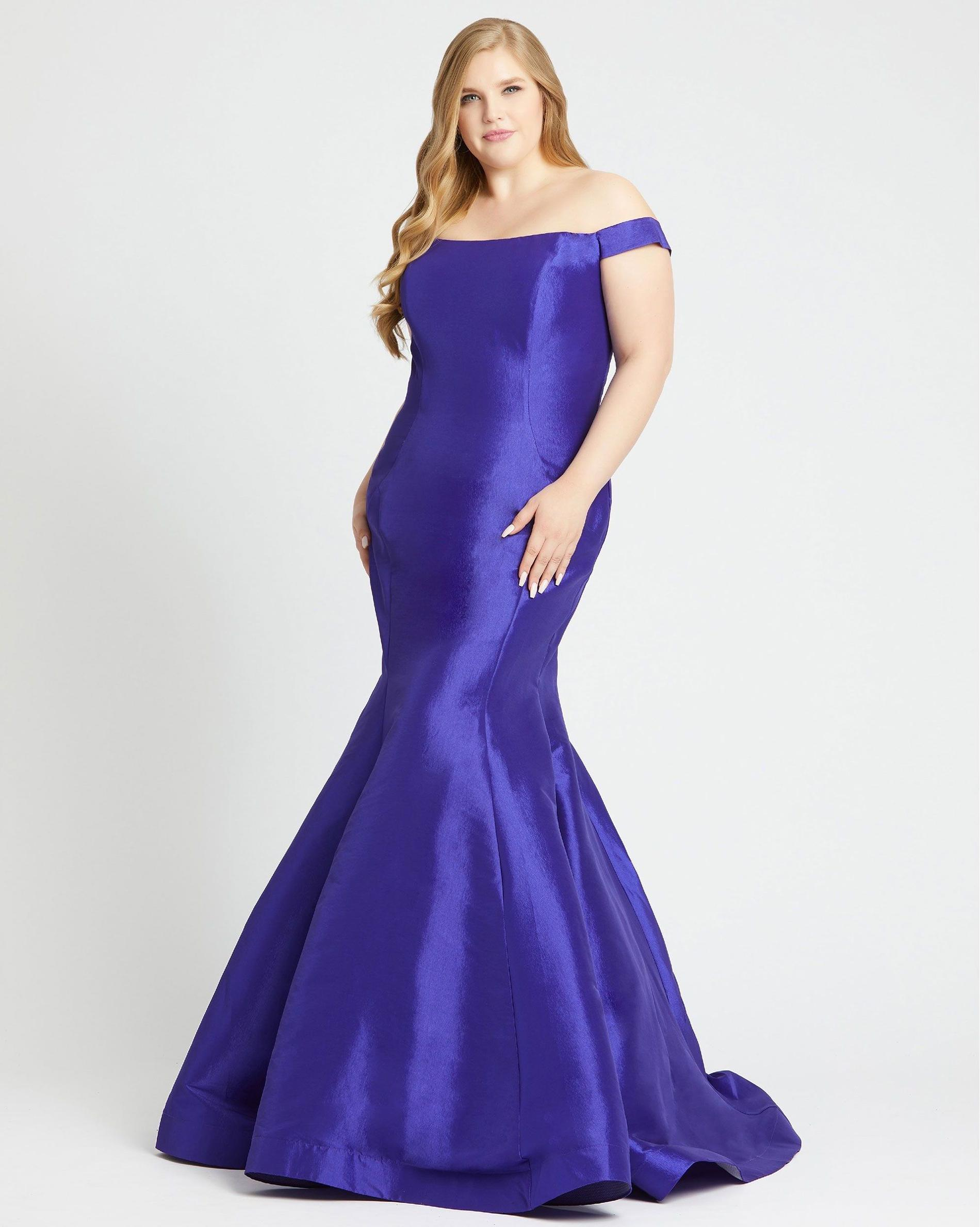 Style 66803 Mac Duggal Purple Size 18 Tall Height Wedding Guest Mermaid Dress on Queenly