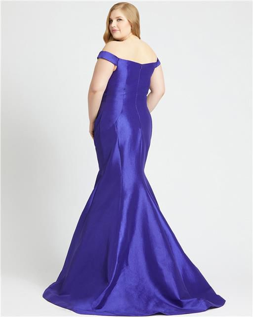 Style 66803 Mac Duggal Purple Size 20 Tall Height Wedding Guest Mermaid Dress on Queenly