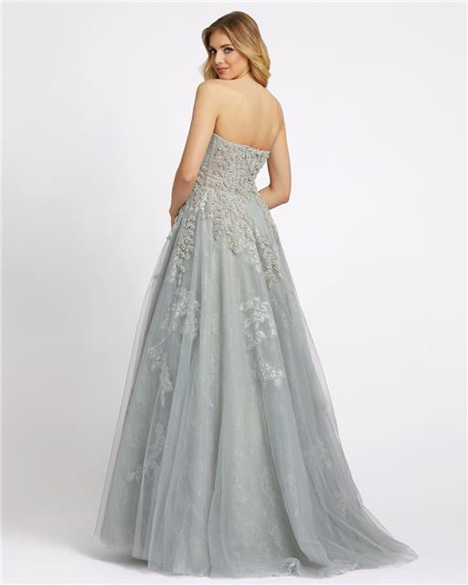 Style 20192 Mac Duggal Green Size 4 Tall Height Ball gown on Queenly