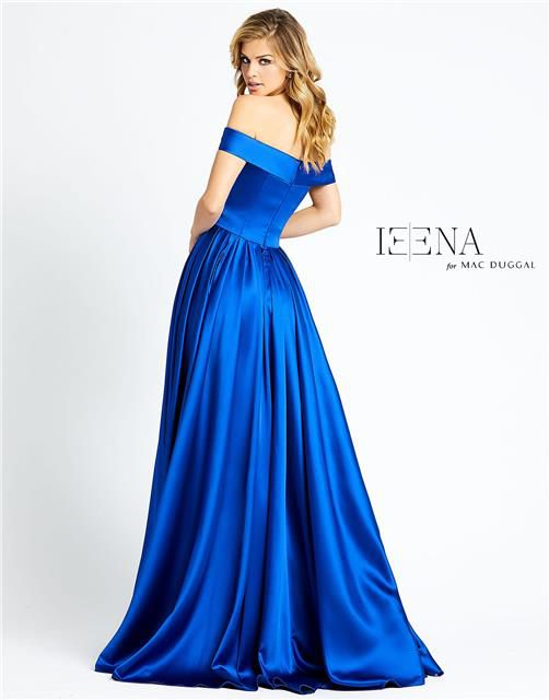 Style 25958 Mac Duggal Blue Size 18 Tall Height Side slit Dress on Queenly