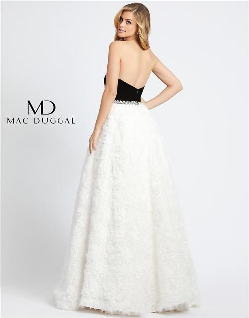 Style 67684 Mac Duggal White Size 4 Pageant Tall Height Ball gown on Queenly