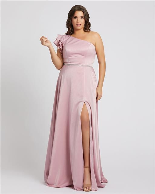 Style 48979 Mac Duggal Pink Size 18 Tall Height Wedding Guest Straight Dress on Queenly