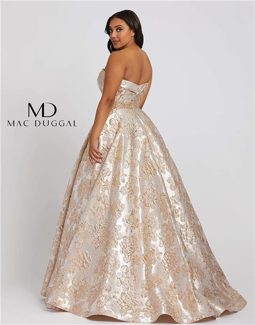 Style 67238 Mac Duggal Gold Size 22 Plus Size Tall Height Ball gown on Queenly