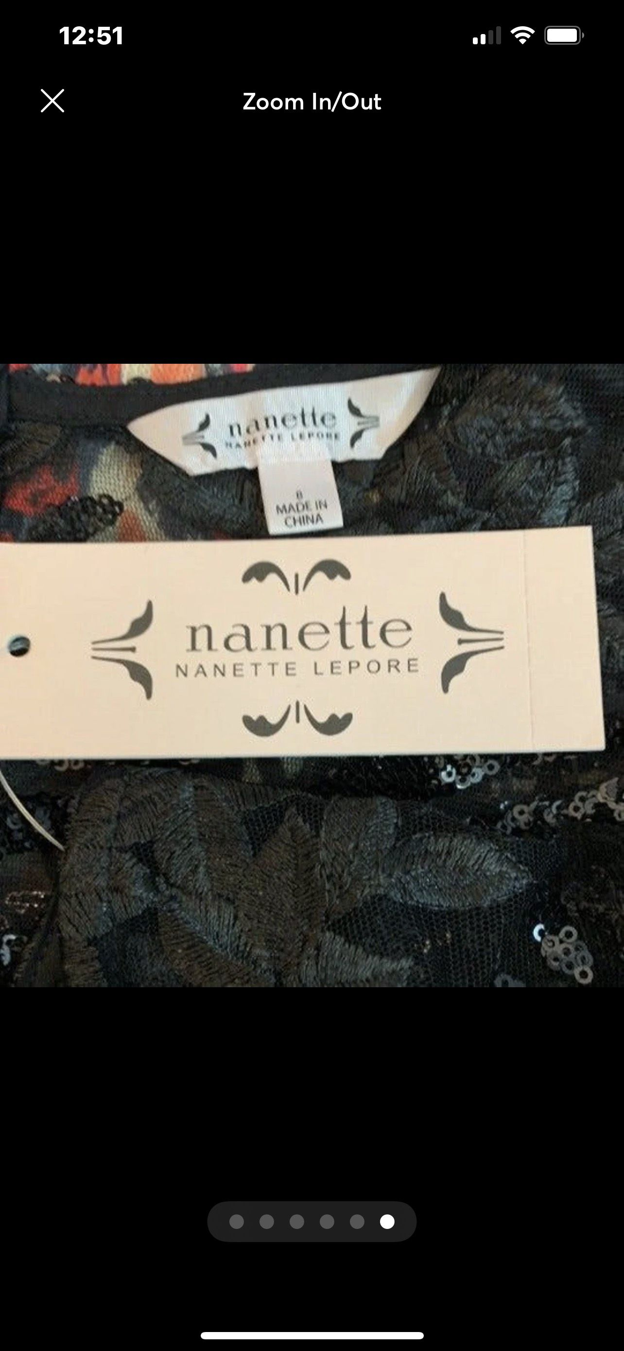 Nanette Lepore Black Size 8 Sheer Lace Cocktail Dress on Queenly
