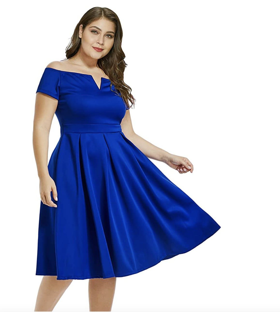 Style B07BPXV9LM Lalagen Blue Size 18 Flare Sweetheart Tall Height Wedding Guest Cocktail Dress on Queenly
