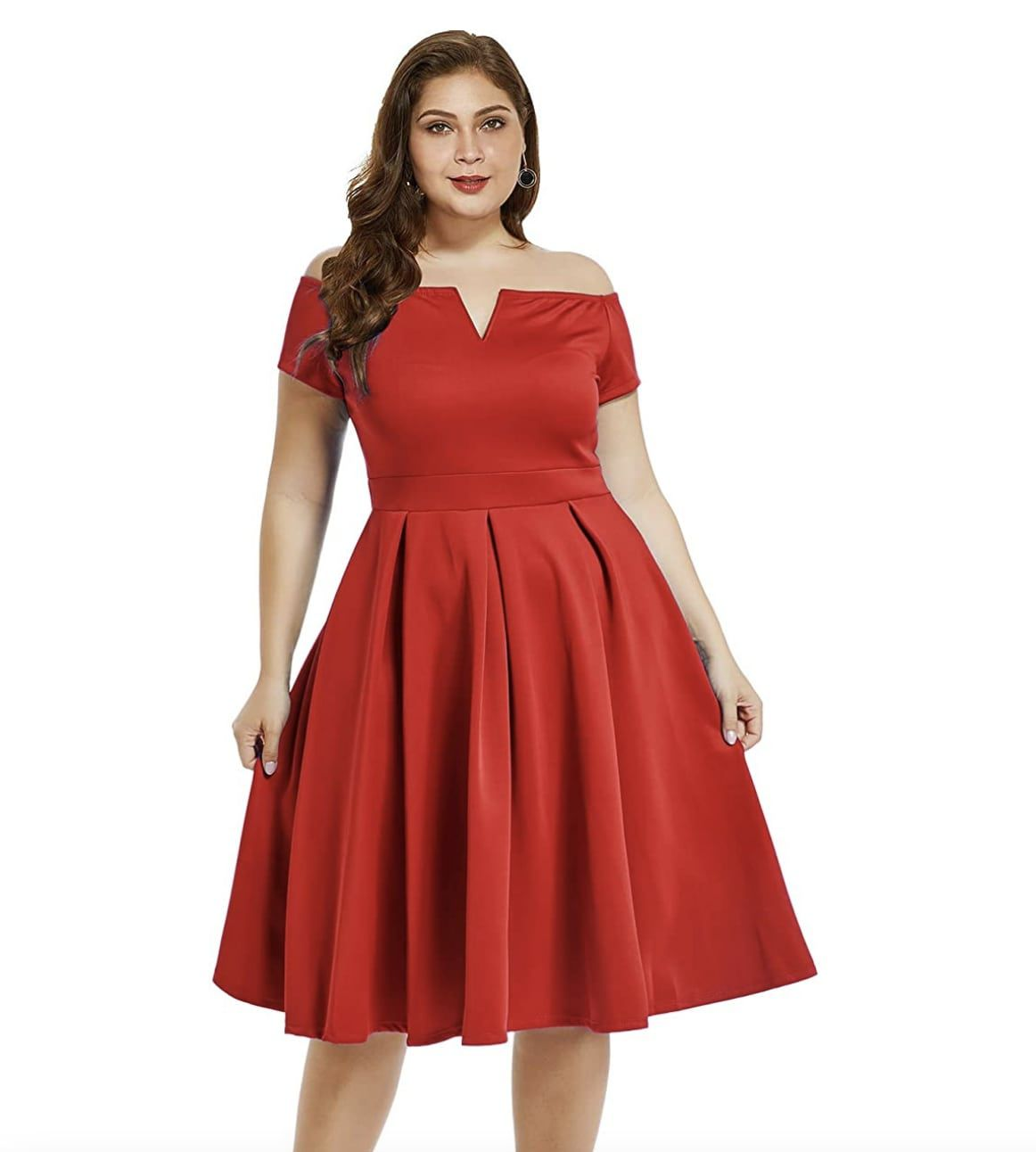 Style B07BPXV9LM Lalagen Red Size 18 Flare Sweetheart Tall Height Wedding Guest Cocktail Dress on Queenly